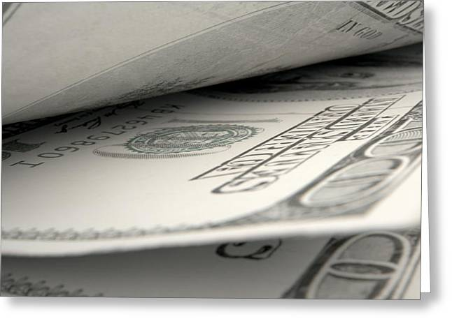 Separate Greeting Cards - Separated Banknotes Close-up Detail Greeting Card by Allan Swart