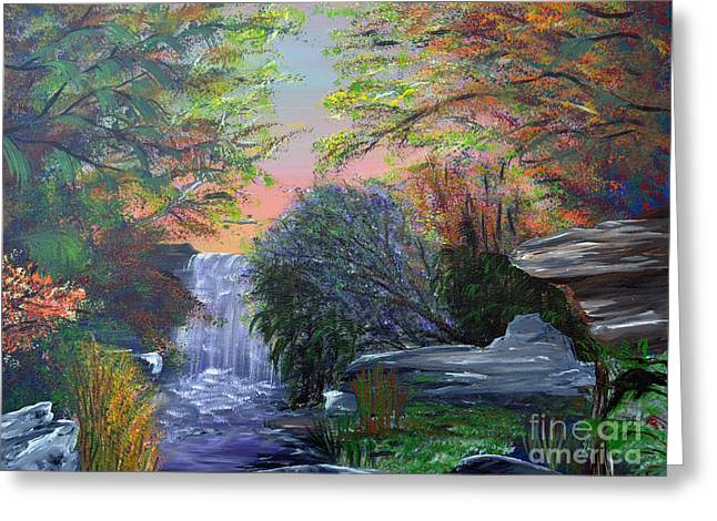 Indiana Autumn Paintings Greeting Cards - September Reverie Greeting Card by Alys Caviness-Gober