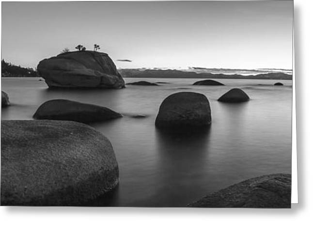 Black And White Nature Landscapes Greeting Cards - Serenity Greeting Card by Brad Scott