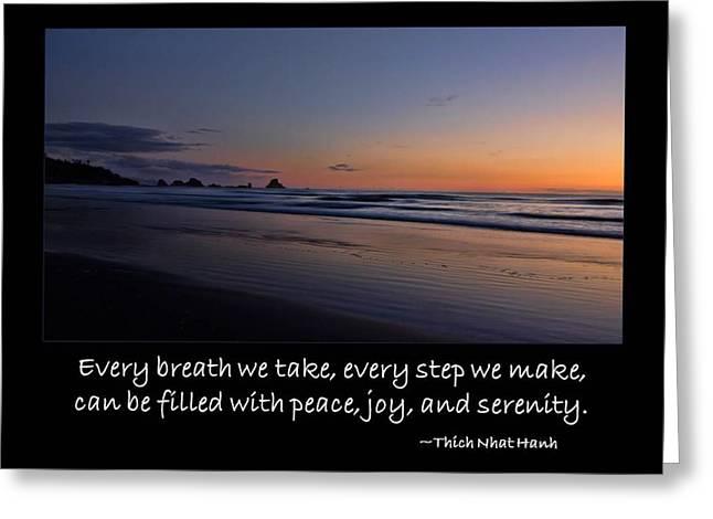 Serenity Greeting Card by Don Schwartz
