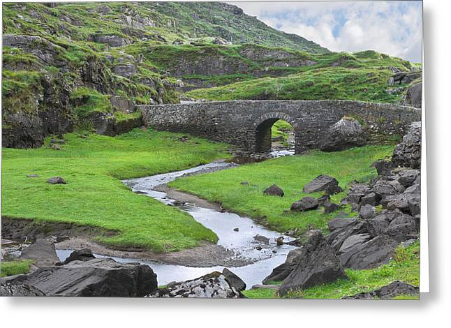 Jane Mcilroy Greeting Cards - Serpent River Bridge Dunloe Greeting Card by Jane McIlroy