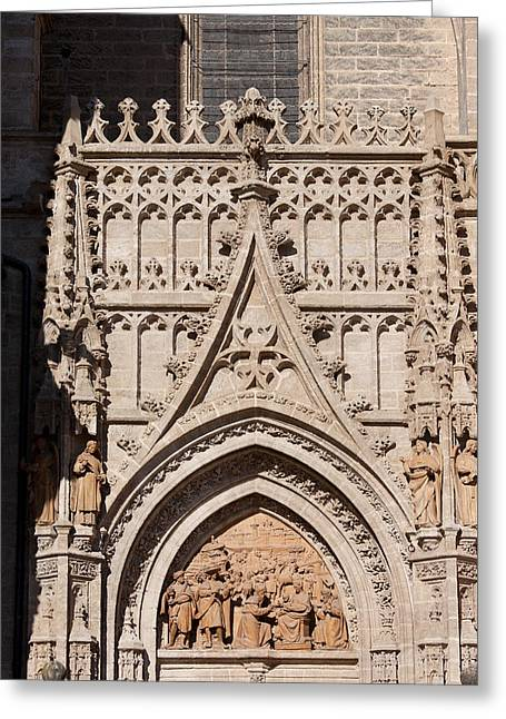 Sculpture Relief Greeting Cards - Seville Cathedral Ornamentation Greeting Card by Artur Bogacki