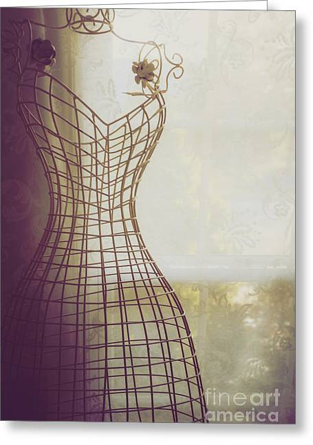 Dress Form Greeting Cards - Shaded Greeting Card by Margie Hurwich
