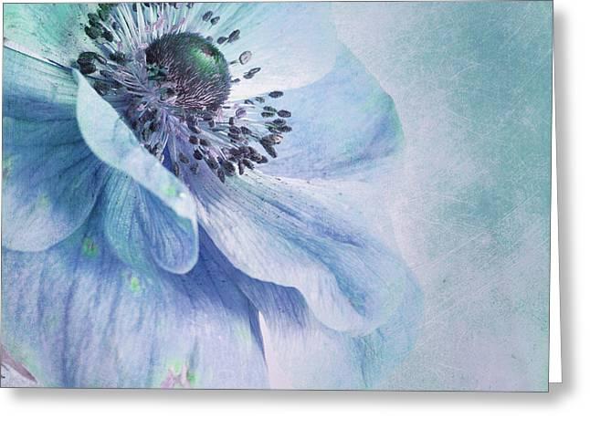 Shades Of Blue Greeting Card by Priska Wettstein