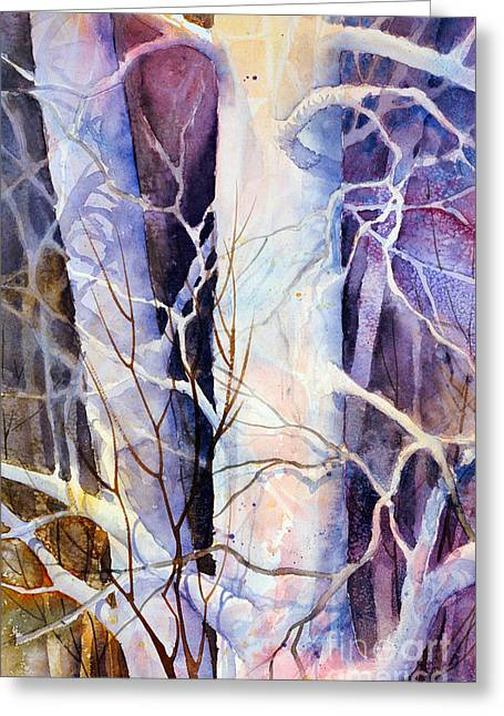 Impressionist Greeting Cards - Shadowplay Greeting Card by Teresa Ascone