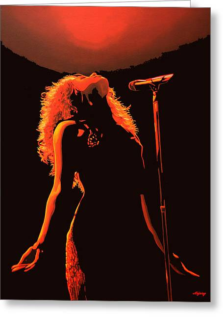 Choreographer Greeting Cards - Shakira Greeting Card by Paul  Meijering