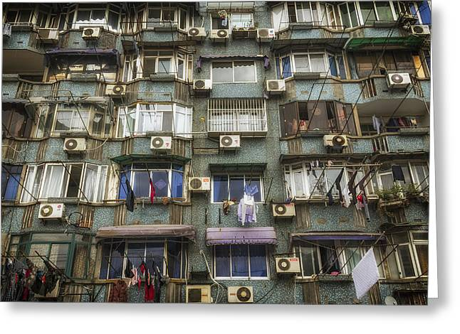 Conditions Greeting Cards - Shanghai Urban Life Greeting Card by Mountain Dreams