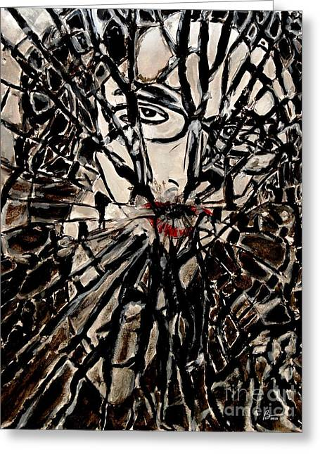 Bravery Greeting Cards - Shattered Silence Greeting Card by Brigitte Cadena