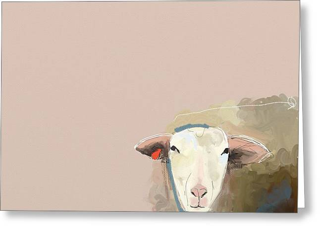 Sheep Greeting Cards - Sheep Greeting Card by Cathy Walters