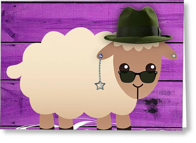 Baby Room Greeting Cards - Sheep Collection Greeting Card by Marvin Blaine
