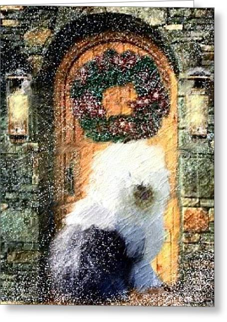 Oes Greeting Cards - 1 Sheepdog Greeting Card by Cathy Howard