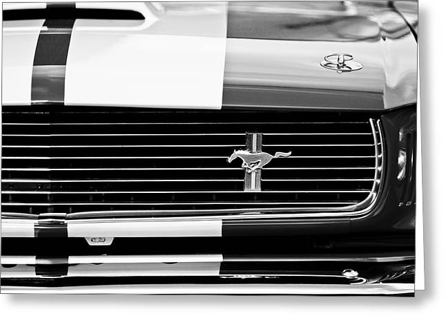 Shelby 350 Greeting Cards - Shelby Cobra GT 350 Grille Emblem Greeting Card by Jill Reger