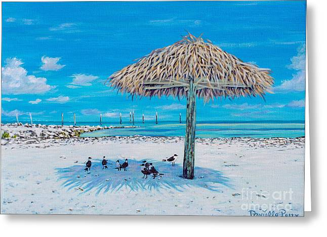 Sun Shade Greeting Cards - Shelter From The Sun  Greeting Card by Danielle  Perry