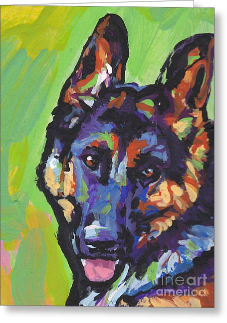 German Shepherd Greeting Cards - Sheppy Greeting Card by Lea