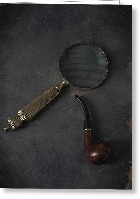 Sherlock Holmes Greeting Card by Joana Kruse