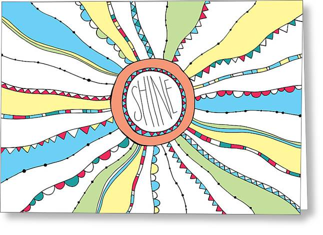 Abstract Sunburst Greeting Cards - Shine Greeting Card by Susan Claire