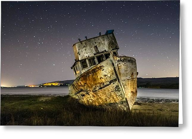 Pt Reyes Greeting Cards - Shipwreck Greeting Card by Mike Ronnebeck