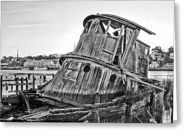 Cape Fear River Greeting Cards - Shipwrecked  Greeting Card by JC Findley