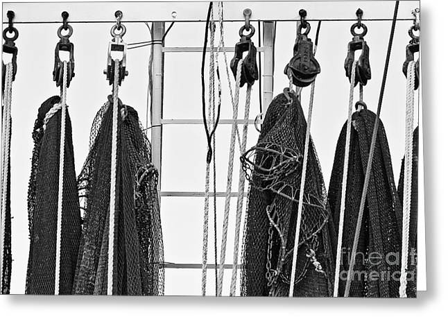 Boat Hardware Greeting Cards - Shrimp Nets Greeting Card by Scott Pellegrin