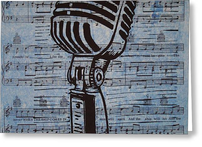 Shure 55s on music Greeting Card by William Cauthern