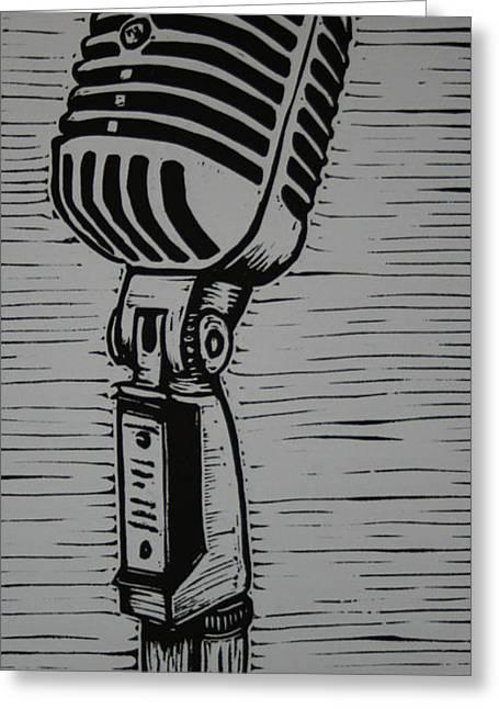 Recently Sold -  - Lino Greeting Cards - Shure 55s Greeting Card by William Cauthern