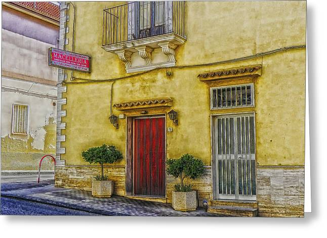 Recently Sold -  - Entrance Door Greeting Cards - Sicilian Restaurant Greeting Card by Mountain Dreams