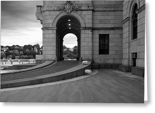 Historical Building Greeting Cards - Side Entrance  Greeting Card by Lourry Legarde