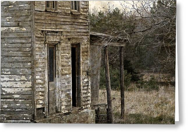 Dilapidated Houses Greeting Cards - Side Porch Greeting Card by John Stephens