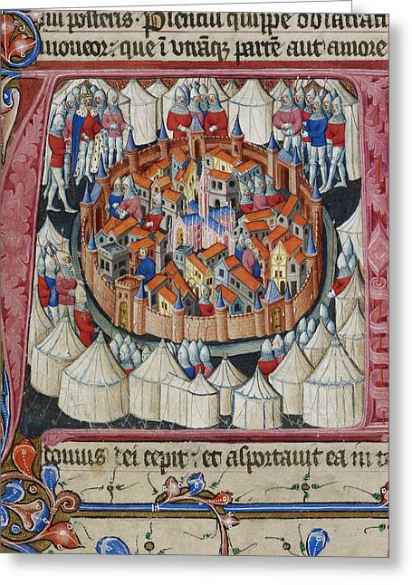 Siege Of Jerusalem Greeting Card by British Library