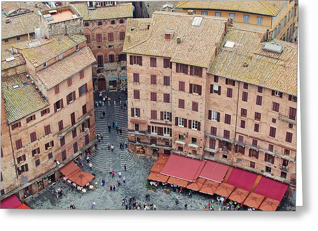 Siena Italy Greeting Cards - Siena Italy Architectural Photography Greeting Card by Kim Fearheiley