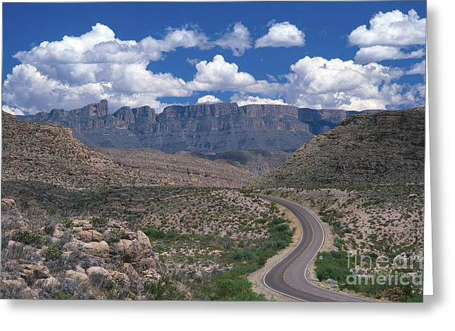 Mountain Road Greeting Cards - Sierra del Carmen Greeting Card by Chris Selby