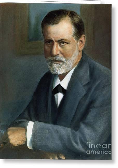20th Greeting Cards - Sigmund Freud (1856-1939) Greeting Card by Granger