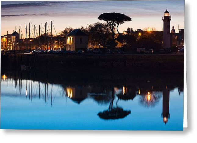 Old Port Greeting Cards - Silhouette Of Old Port Lighthouse Greeting Card by Panoramic Images