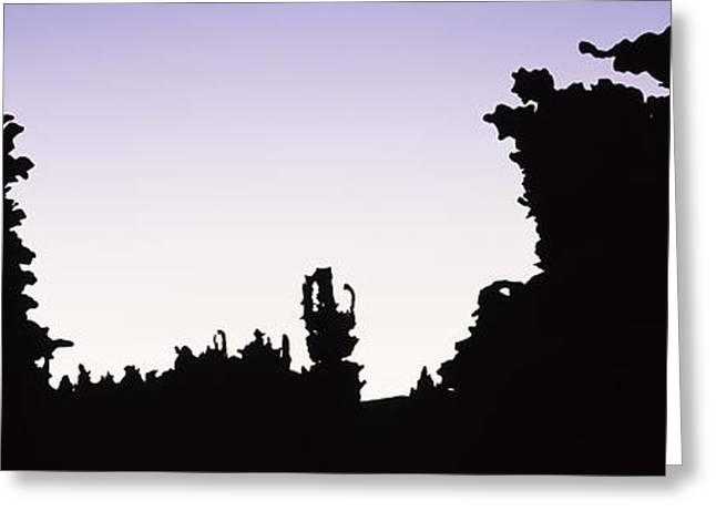 Vernal Greeting Cards - Silhouette Of Rock Formations, Teapot Greeting Card by Panoramic Images