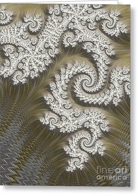 Geometric Effect Greeting Cards - Silver And Gold  Greeting Card by Heidi Smith