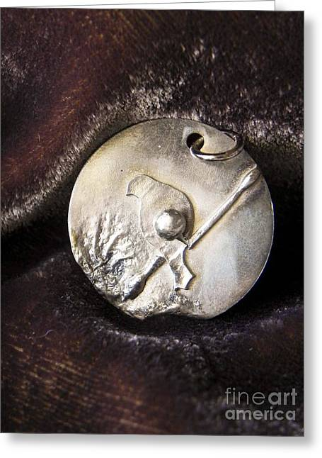 Birds Jewelry Greeting Cards - Silver bird Greeting Card by Patricia  Tierney
