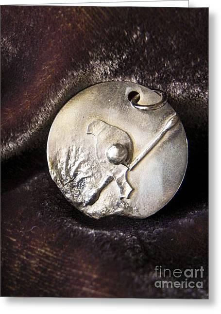 Bird Jewelry Greeting Cards - Silver bird Greeting Card by Patricia  Tierney