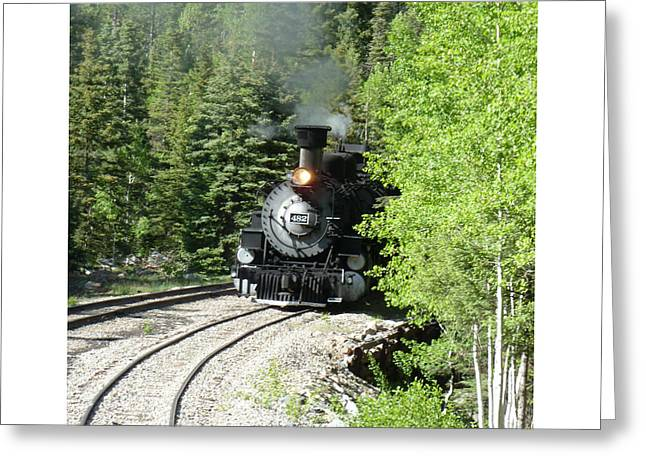 The Experience Greeting Cards - Silverton-Durango Steam Engine Greeting Card by Jack Pumphrey