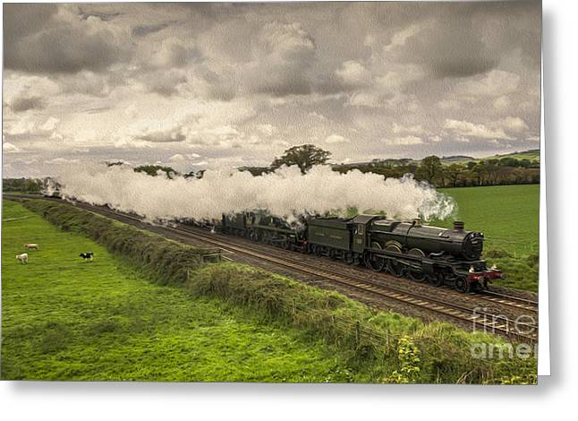 Smoke Trail Greeting Cards - Silverton Steam  Greeting Card by Rob Hawkins