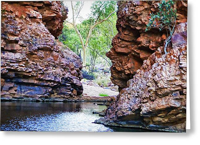 Simpson Greeting Cards - Simpsons Gap V5 Greeting Card by Douglas Barnard