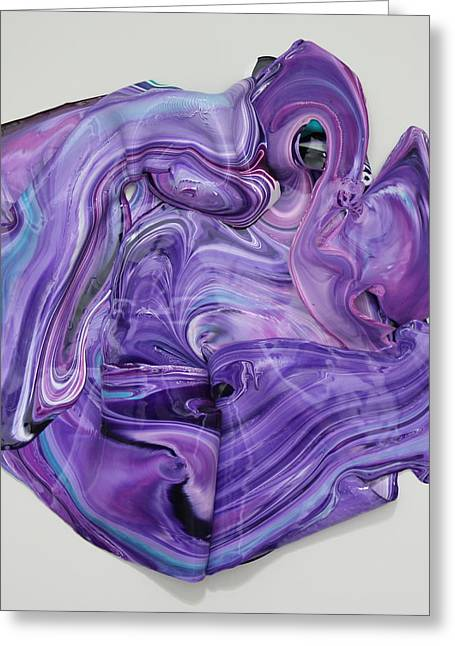 Purple Abstract Sculptures Greeting Cards - Singularity 1 Greeting Card by Madeleine Arnett