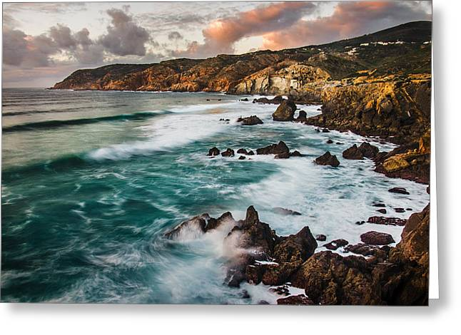 Sintra Coastline Greeting Card by Carlos Caetano