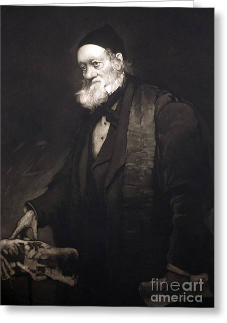 Moa Greeting Cards - Sir Richard Owen In Old Age, 1889 Greeting Card by Paul D. Stewart