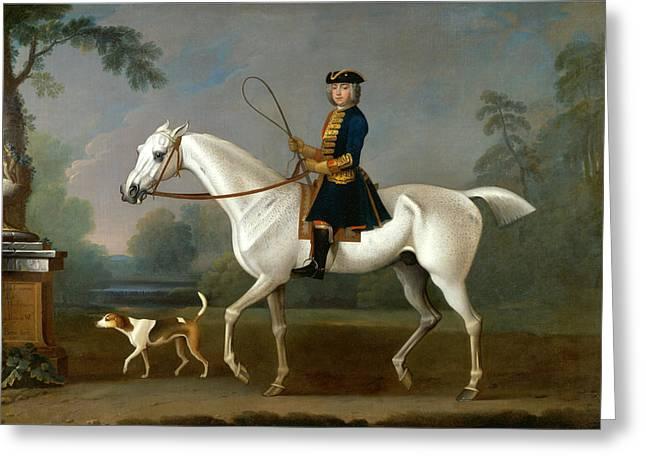 Sir Roger Burgoyne Riding Badger Greeting Card by James Seymour