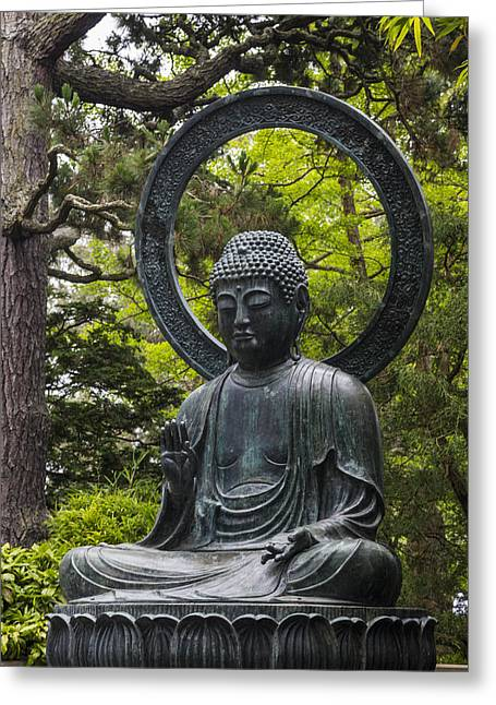 Wall Art Sculptures Greeting Cards - Sitting Buddha Greeting Card by Adam Romanowicz