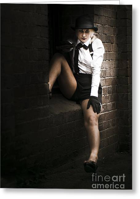 Female Spy Greeting Cards - Sitting In The Shadows Greeting Card by Ryan Jorgensen