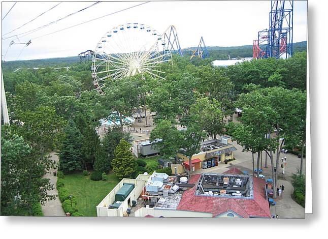 Amusement Greeting Cards - Six Flags Great Adventure - 12125 Greeting Card by DC Photographer