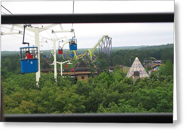 Sixflags Greeting Cards - Six Flags Great Adventure - 12126 Greeting Card by DC Photographer