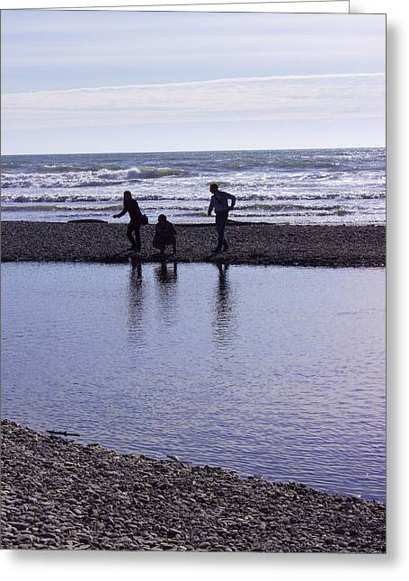 Throwing Stones Greeting Cards - Skipping Stones Greeting Card by Cathy Anderson