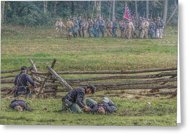 Skirmish Line Greeting Cards - Skirmish Line  Greeting Card by Randy Steele